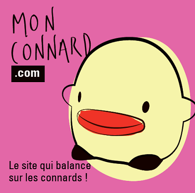 Sticker Mon Connard rose